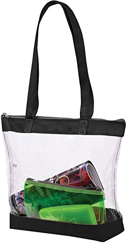 ae8fd2b5e2f Bags for Less Clear Stadium Security Travel   Gym Zippered Tote Bag By  Sturdy PVC Construction