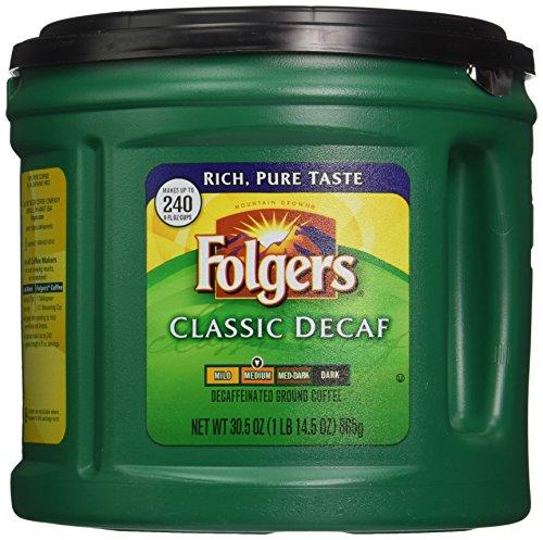 folgers classic decaf ground coffee  medium roast  30 5